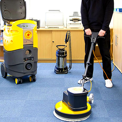 Professional floor cleaning using high grade equipment